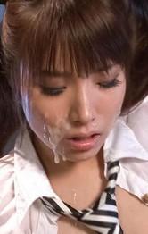 Top Japanese School Porn Models - Hinata Tachibana Asian gets cum on cheeks and vibrator on nooky