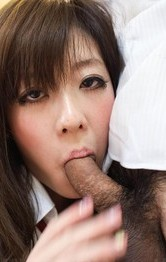 Japanese Schoolgirl Nurse - Mao Miyazaki Asian has one boob fondled while she sucks shlong