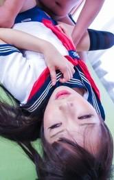 School Nurse Porn - Yuri Sakurai sucks dong and gets it through crotchless uniform