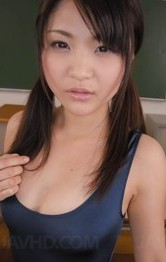 Shaved School Porn - Kanna Harumi busty eats cum and plays with vibrators at school